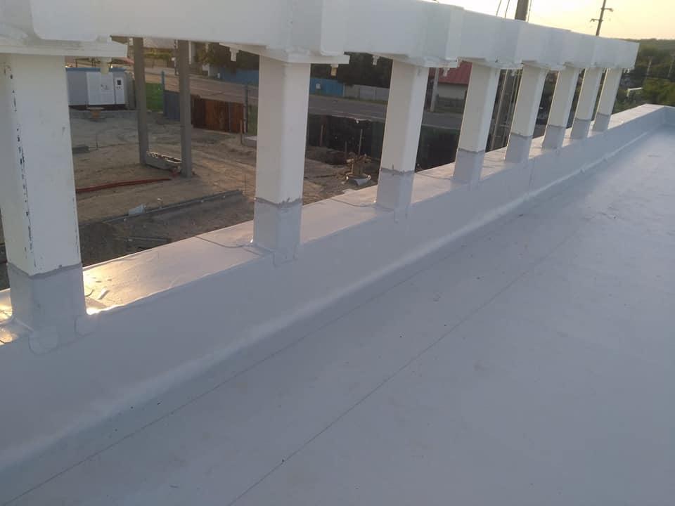 Hidroizolatie acoperiș cu membrana PVC Sikaplan 15 G și scurgeri Sika SDrain – SOCAR Craiova (3)