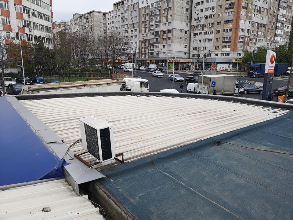 Reparatie acoperiș cu montaj de osb, contrapanta din vata și execuție hidroizolație acoperiș cu membrana PVC Sikaplan 15 G Rompetrol Galati (2)