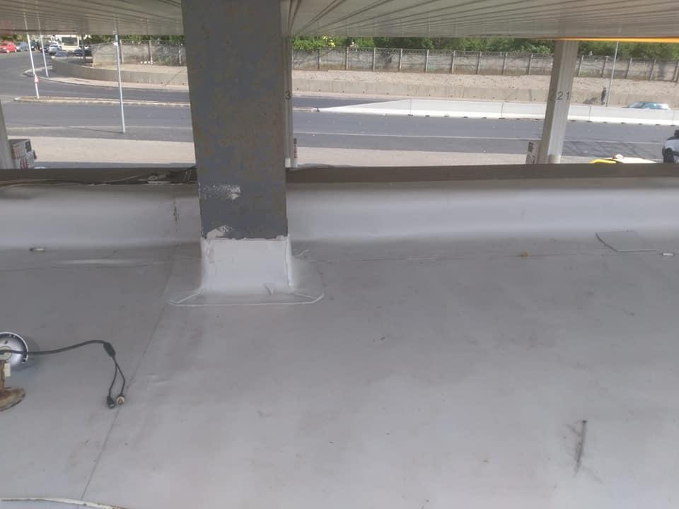 Reparatie acoperiș cu montaj de osb, contrapanta din vata și execuție hidroizolație acoperiș cu membrana PVC Sikaplan 15 G Rompetrol Galati (22)