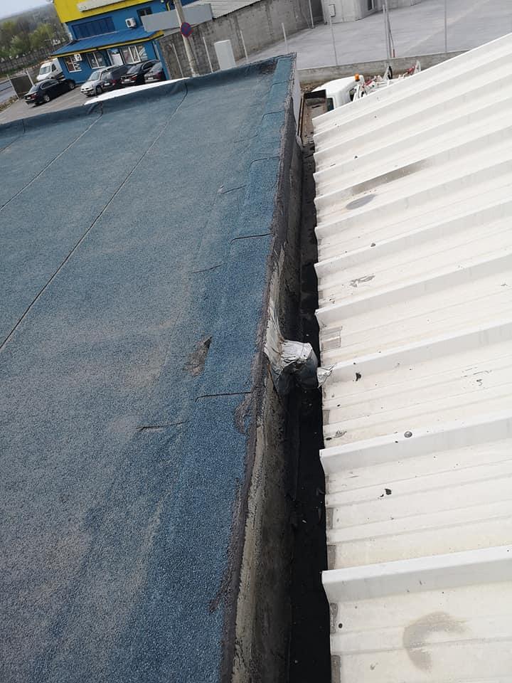 Reparatie acoperiș cu montaj de osb, contrapanta din vata și execuție hidroizolație acoperiș cu membrana PVC Sikaplan 15 G Rompetrol Galati (3)