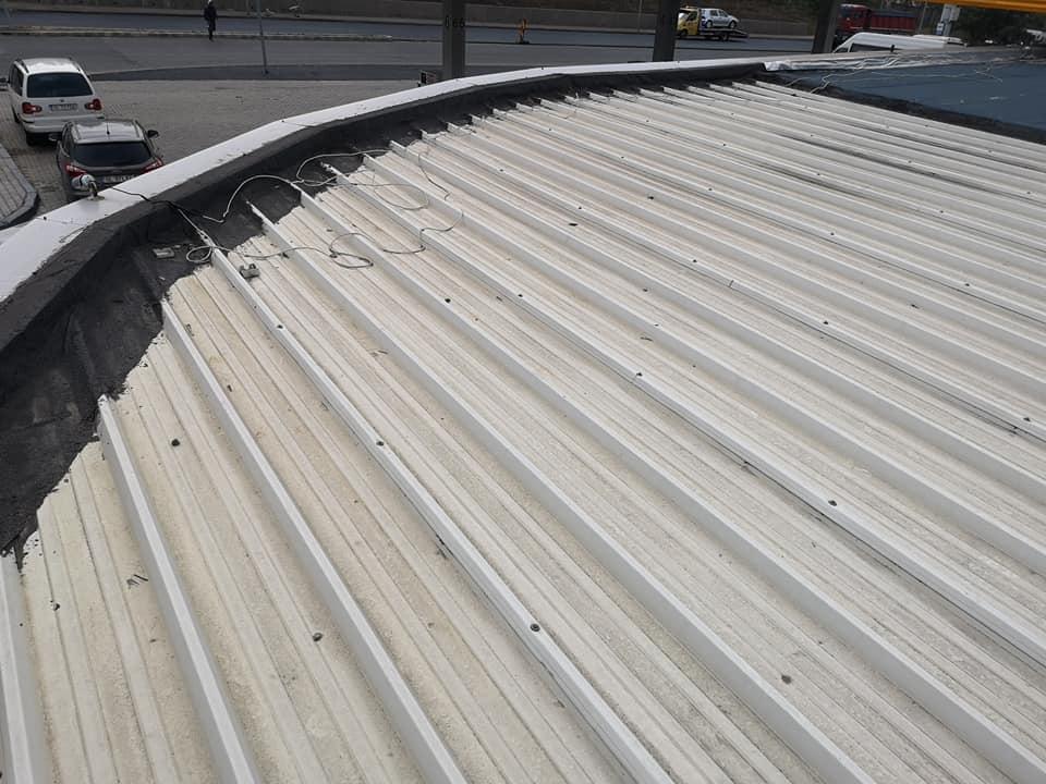 Reparatie acoperiș cu montaj de osb, contrapanta din vata și execuție hidroizolație acoperiș cu membrana PVC Sikaplan 15 G Rompetrol Galati (5)