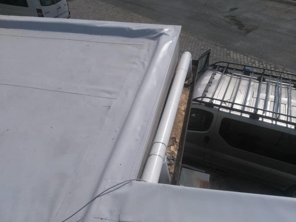 Reparatie acoperiș cu montaj de osb, contrapanta din vata și execuție hidroizolație acoperiș cu membrana PVC Sikaplan 15 G Rompetrol Galati (8)