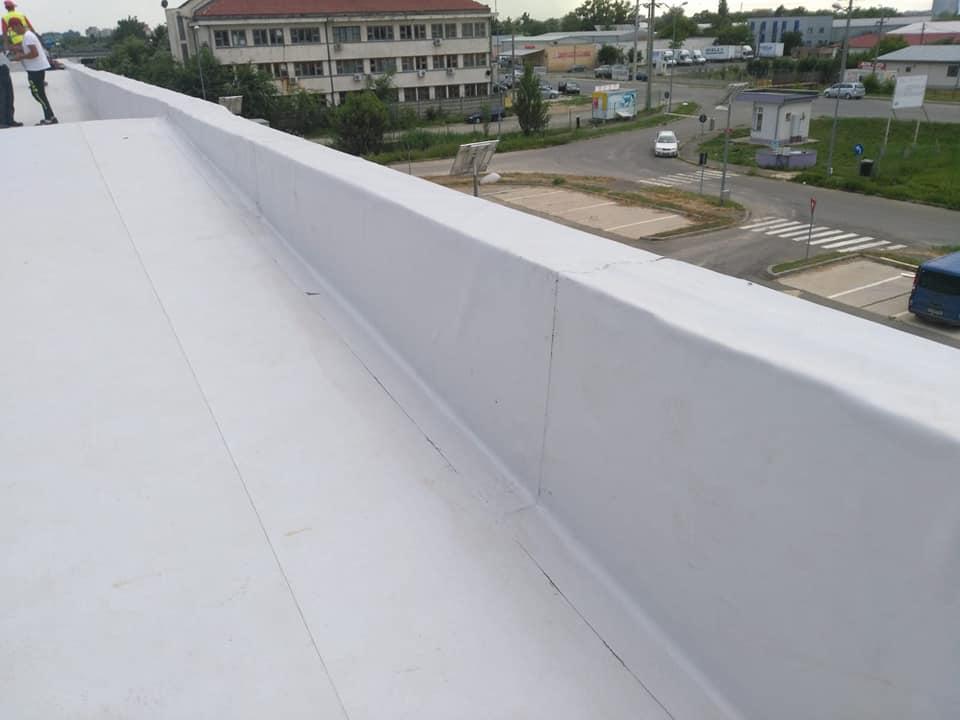 Tabla cutata, termosistem vata minerala si hidroizolatie membrana PVC Sikaplan 15 G- 1900 mp – Supeco Slobozia (16)