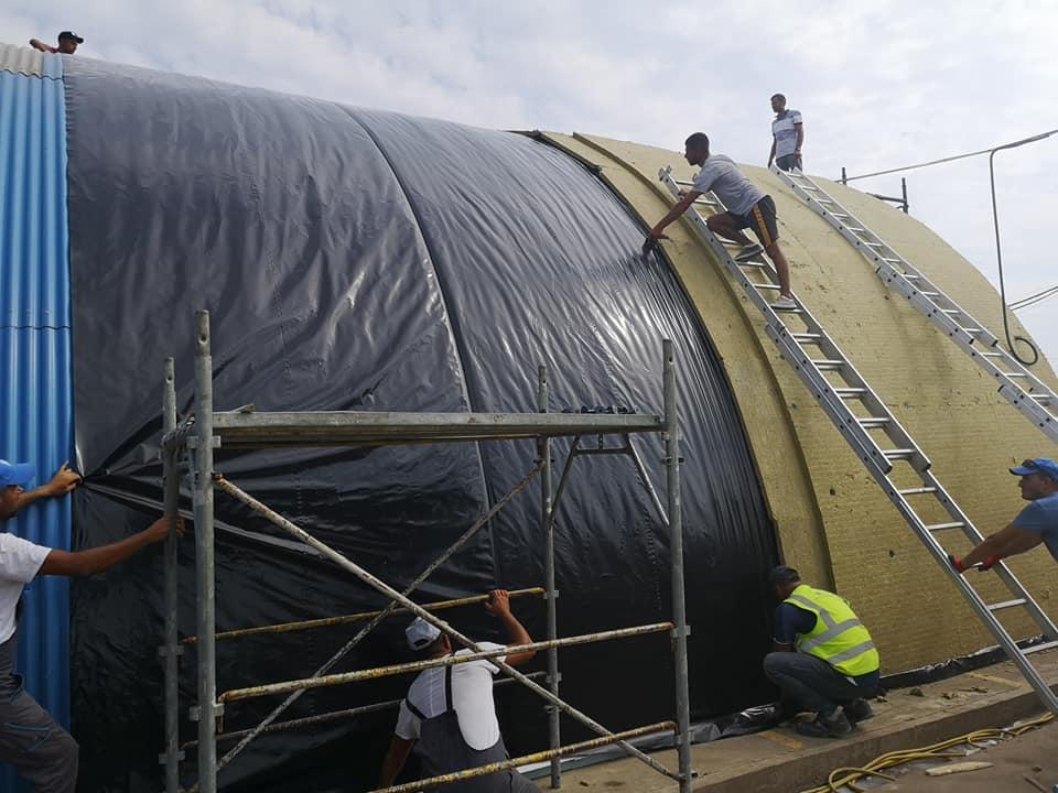 Termoizolație și hidroizolație cu membrana PVC 1700 mp – Hala depozitare Tisita Moldova Farming 5