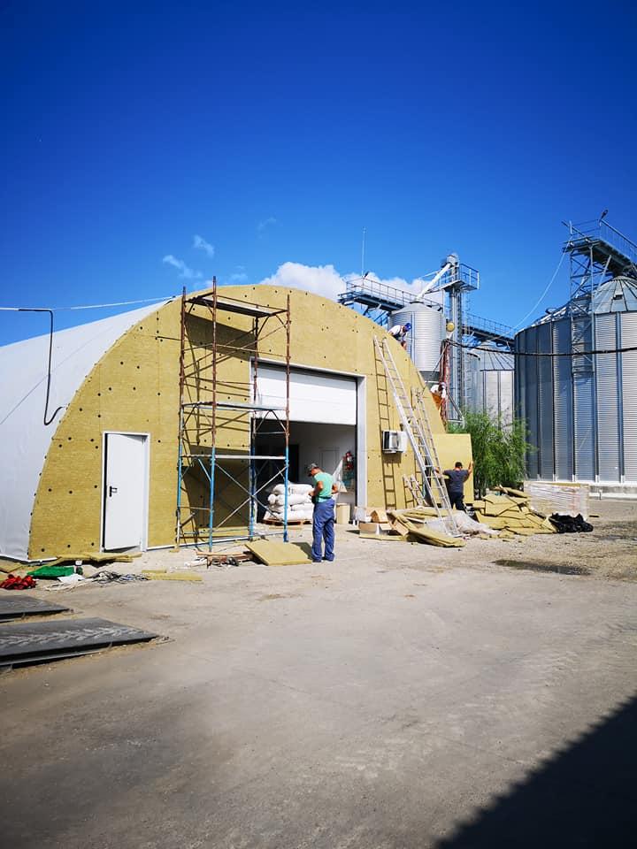 Termoizolație și hidroizolație cu membrana PVC 1700 mp – Hala depozitare Tisita Moldova Farming 7
